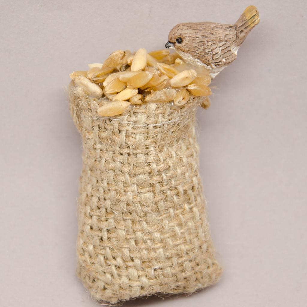 Getreidesack mit Vögelchen