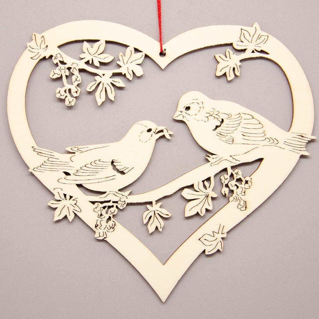 Herz mit Vögel