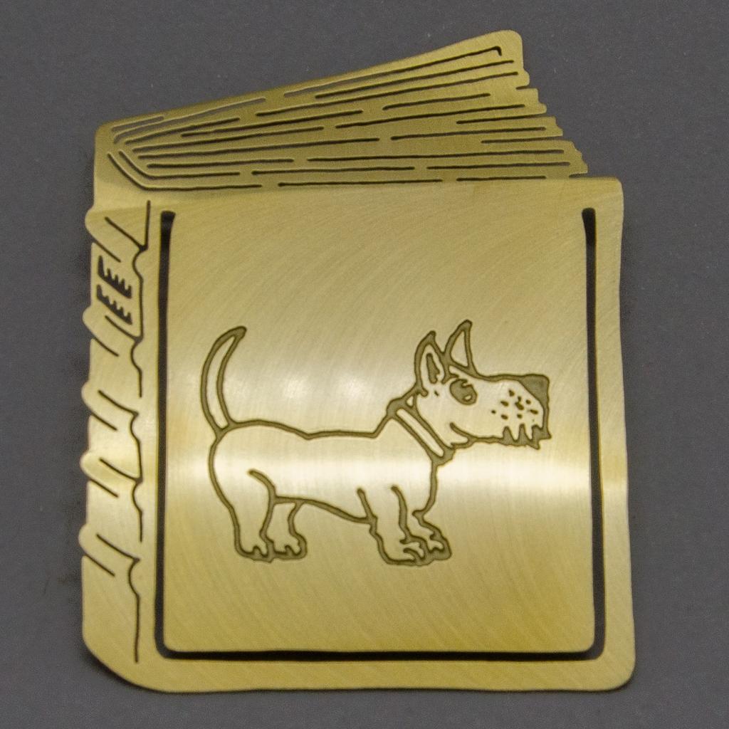 Lesezeichen - Buch mit Hund