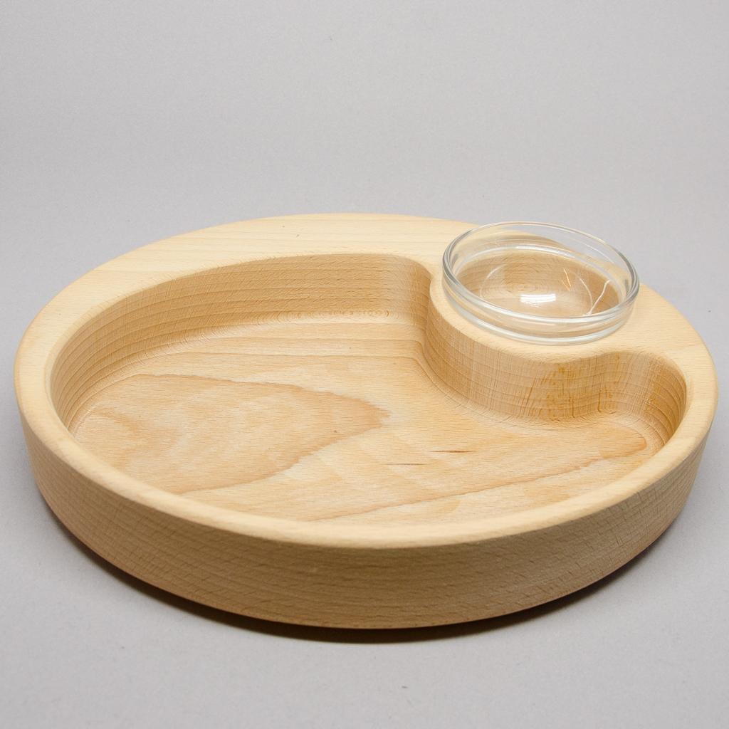 Schale oval mit Dip-Einsatz