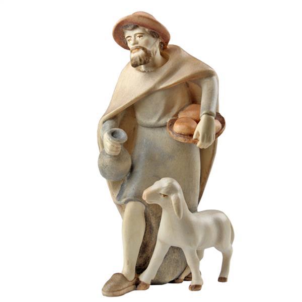 Hirte mit Krug und Schaf