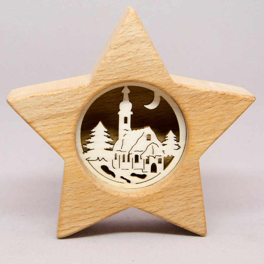 Stern mit Kirche