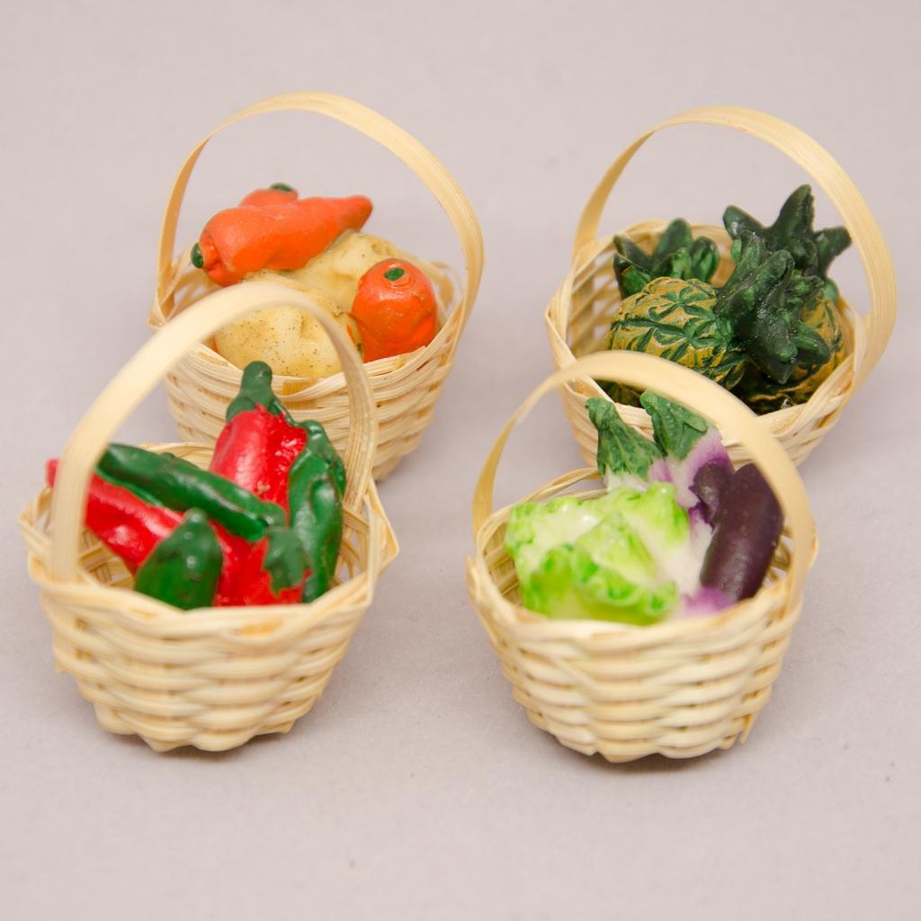 Gemüsekörbe sort. 4er Set