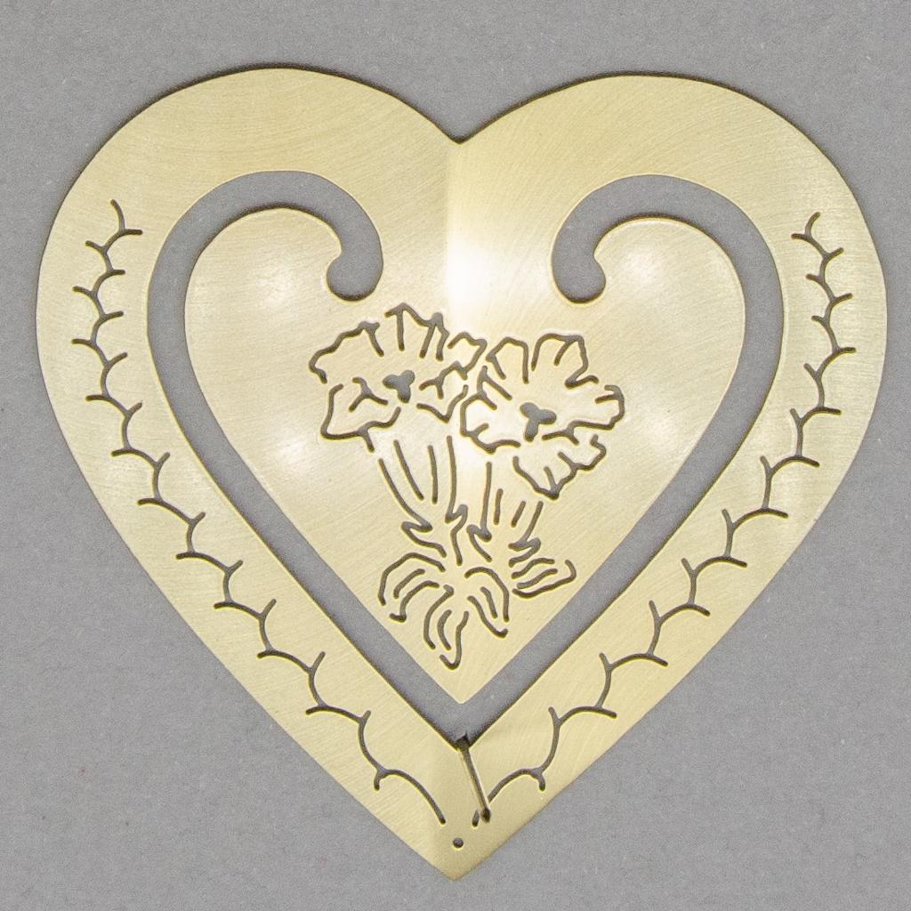 Lesezeichen - Herz mit Enzian