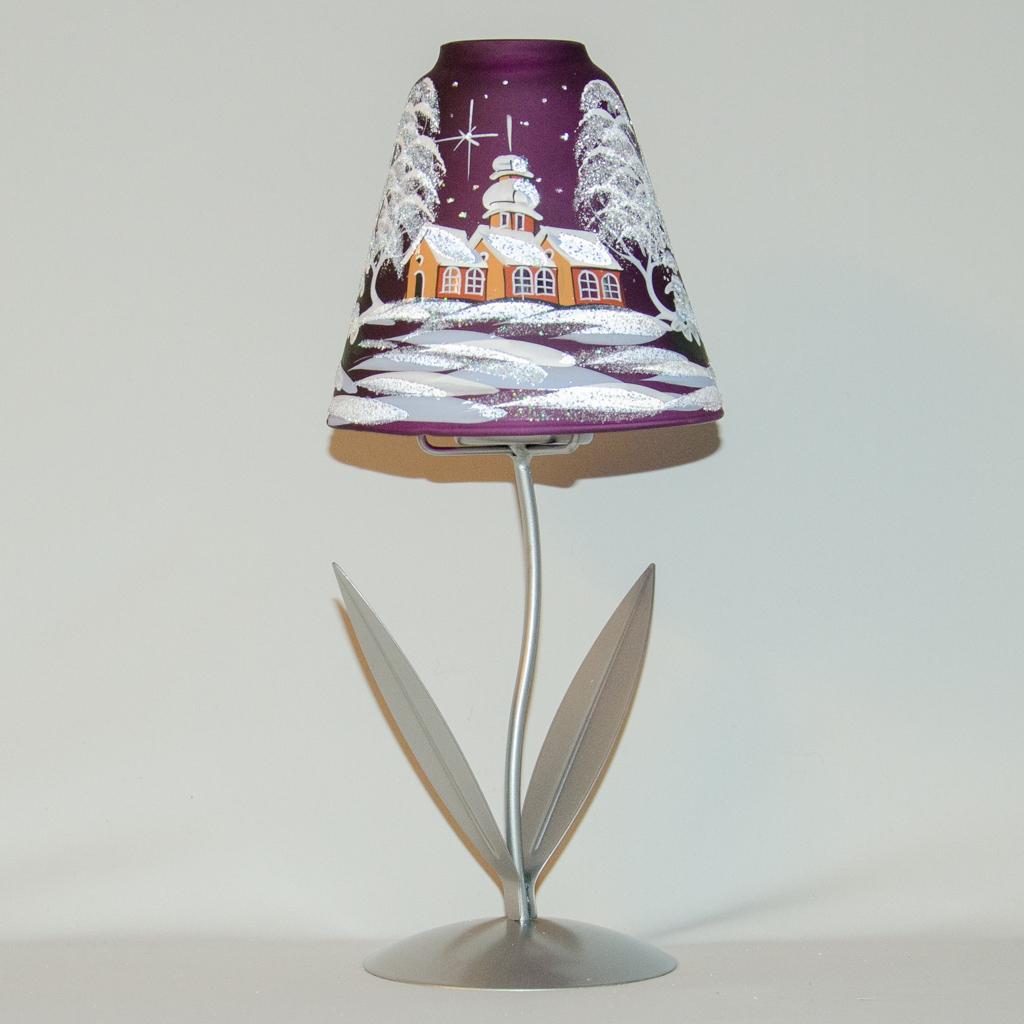 Lampe auf Metallfuß, verschiedene Farben