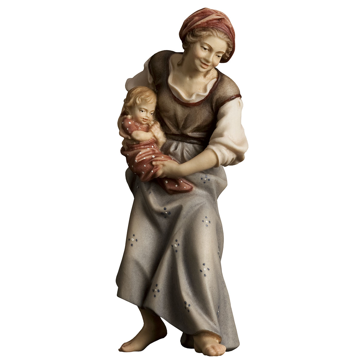 Hirtin mit Neugeborenem