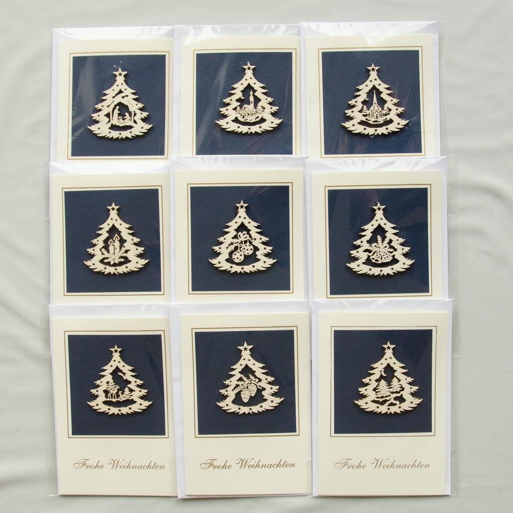 "Karten ""Frohe Weihnachten"", 9 Stück sortiert"